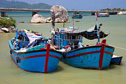 Asian Culture Posters - Fishing boats Poster by Fototrav Print