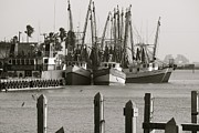 Graham Winchester - Fishing Boats in B and W