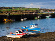 Riviere Metal Prints - Fishing boats in the harbour at Hayle Metal Print by Louise Heusinkveld