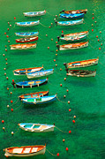 Cinque Terre Metal Prints - Fishing Boats in Vernazza Metal Print by David Smith