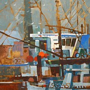 Portland Prints - Fishing Boats Print by Micheal Jones