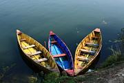 Fishing Boats - Nepal Print by Aidan Moran