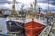 Trawling Boats Framed Prints - Fishing Boats of Mallaig Scotland Framed Print by Jason Politte