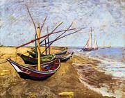 Vincent van Gogh - Fishing boats on the beach 1888