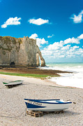 Loriental Prints - Fishing Boats on the Beach at Etretat Print by Loriental Photography