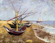 Vincent van Gogh - Fishing Boats on the beach