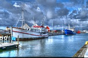 Varberg Framed Prints - Fishing boats Framed Print by Tommy Hammarsten