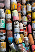 Buoys Prints - Fishing buoys Print by Garry Gay