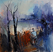 David Figielek Art - Fishing by David Figielek