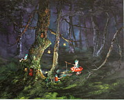 Fishing For Supper On Cannock Chase Print by Jean Walker