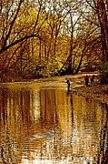 Wissahickon Photos - Fishing by Gallery Three
