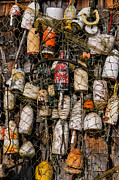 Lobster Traps Photos - Fishing Gear Cape Neddick Maine by Thomas Schoeller