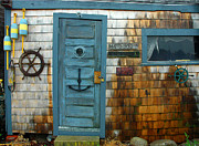 Fishing Shack Prints - Fishing Hut at Rockport Maritime Print by Jon Holiday