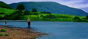 Fishing Art On Canvas Posters - Fishing in Cape Breton Nova Scotia Poster by John Malone