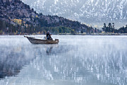 Ghose Framed Prints - Fishing Into Silver Framed Print by Priya Ghose