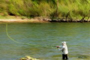 Lakes Digital Art - Fishing Lake Taneycomo by Jeff Kolker