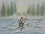 Wade Fishing Metal Prints - Fishing Memories Metal Print by David Camacho