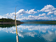 Angling Framed Prints - Fishing on Lake Laberge Yukon Territory Canada Framed Print by Stephan Pietzko
