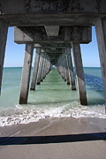 Christiane Schulze Framed Prints - Fishing Pier Architecture Framed Print by Christiane Schulze