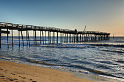 Fish Print Prints - Fishing Pier I Print by Steven Ainsworth