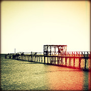 Florida Flowers Posters - Fishing Pier I Sunset Poster by Chris Andruskiewicz
