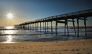 Fish Print Prints - Fishing Pier II Print by Steven Ainsworth