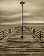 Chesapeake Bay Bridge Posters - Fishing Pier  Poster by Jack Paolini
