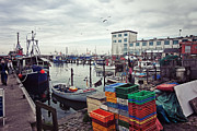 Trawler Metal Prints - Fishing Port Metal Print by Benjamin Matthijs