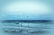 Panama City Beach Photo Metal Prints - Fishing Metal Print by Sandy Keeton