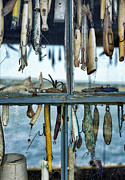 Lures Prints - Fishing Shack Print by John Greim