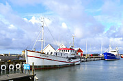 Varberg Framed Prints - Fishing ship  Framed Print by Tommy Hammarsten