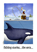 Killer Whale Paintings - fishing stories ... the orca ... by Will Bullas by Will Bullas