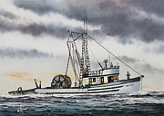Fisherman Print Framed Prints - Fishing Vessel ARIZONA Framed Print by James Williamson