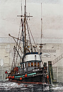 Fishing Vessel Framed Prints - Fishing Vessel OREGONIAN Framed Print by James Williamson