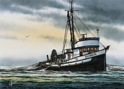Fishing Art Print Prints - Fishing Vessel SONIA Print by James Williamson