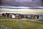 Old Cabins Digital Art - Fishing Village by La di  Kirn