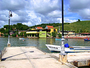 Marilyn Holkham Prints - Fishing Village Puerto Rico Print by Marilyn Holkham