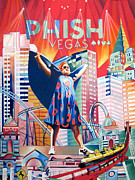 John Drawings Posters - Fishman in Vegas Poster by Joshua Morton