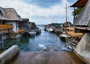 Great Digital Art - Fishtown Leland Michigan by Michelle Calkins