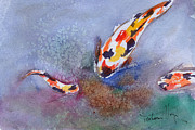 Fish Underwater Paintings - Fishy by Mohamed Hirji