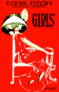 Color Lithographs Acrylic Prints - Fitchs Comedy Girls 1910 Acrylic Print by Padre Art