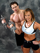 Fitness Models Digital Art Posters - Fitness Couple 17-2 Poster by Gary Gingrich Galleries