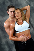 Fitness Models Digital Art Posters - Fitness Couple 27 Poster by Gary Gingrich Galleries