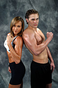 Fitness Models Digital Art Posters - Fitness Couple 39 Poster by Gary Gingrich Galleries