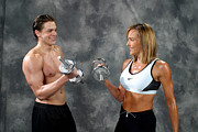 Fitness Models Digital Art Posters - Fitness Couple 9 Poster by Gary Gingrich Galleries