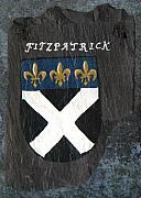 Coat Of Arms Paintings - Fitzpatrick by Barbara McDevitt