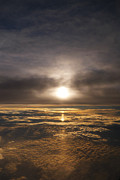 Sun Breakthrough Metal Prints - Five and a Half mile Sunset Metal Print by Richard Reeve