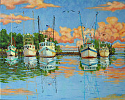 Dwain Ray - Five Boats Backed Into...