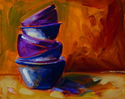 Bowls Paintings - Five Bowls by Samantha Black