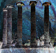 Arcitecture Framed Prints - Five Columns cosmic Framed Print by Debbie Portwood